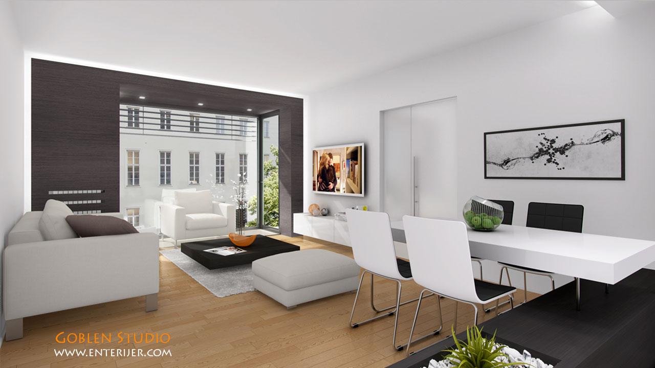 Dnevne sobe enterijer pic pictures for Enterier dizajn