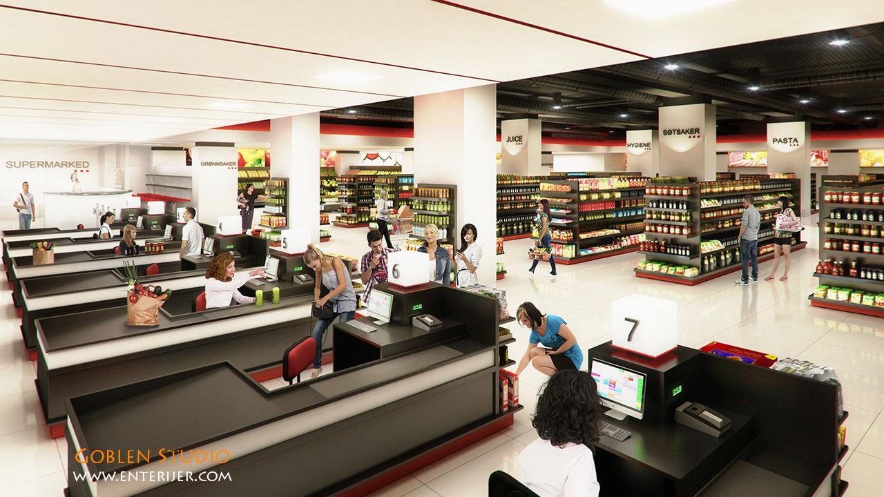 supermarket-opremanje-enterijera